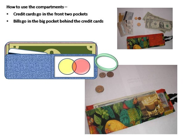 Super-Thin Wallet - Pockets for Credit Cards and Coins!