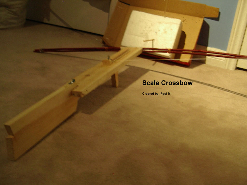 Scale Wooden Crossbow