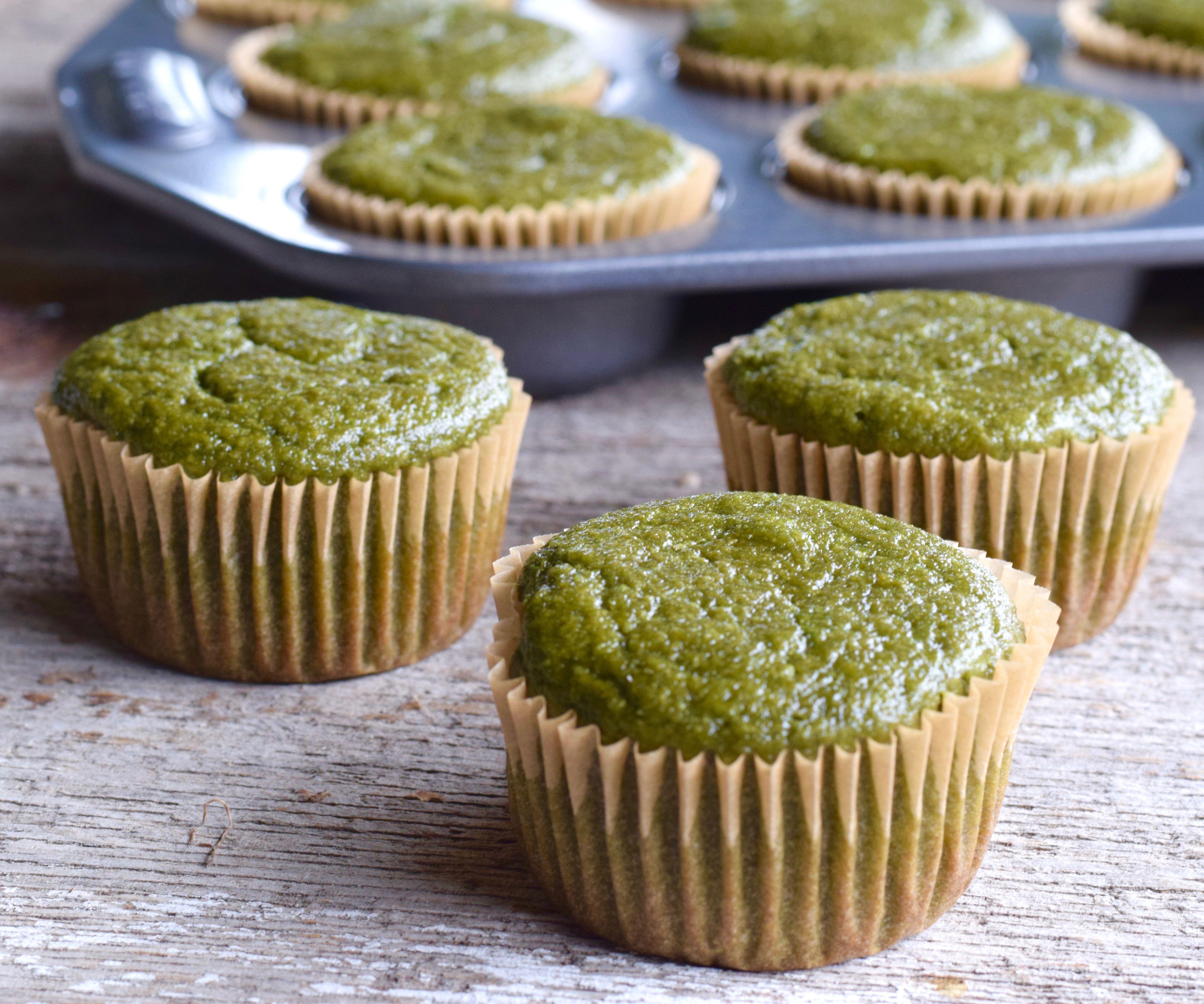 {Gluten-Free} Green Smoothie Muffins
