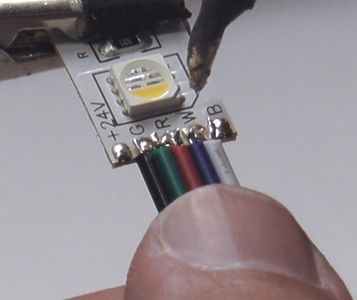 Solder Wires to the LED Strip!