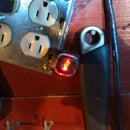 Fitting USB equipped outlet in double gang box.