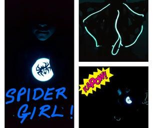 Easy Illuminated Spider Girl Costume