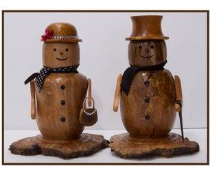 Make a Decorative Wood Snowman