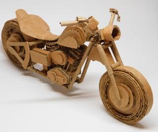 Cardboard Model Harley-Davidson Motorcycle