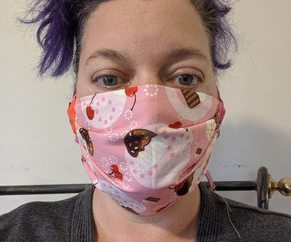 Face Mask With Pocket, Quick Sew Version