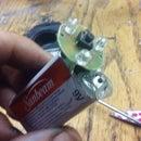 9v Battery Flash Light