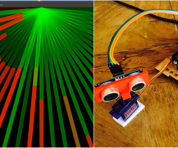 Radar Sencillo Con Processing Y Arduino
