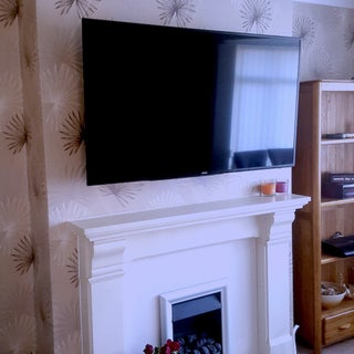 Run TV Cables Above a Fireplace