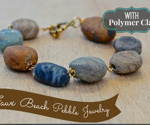 Faux Stone Bracelet From Polymer Clay