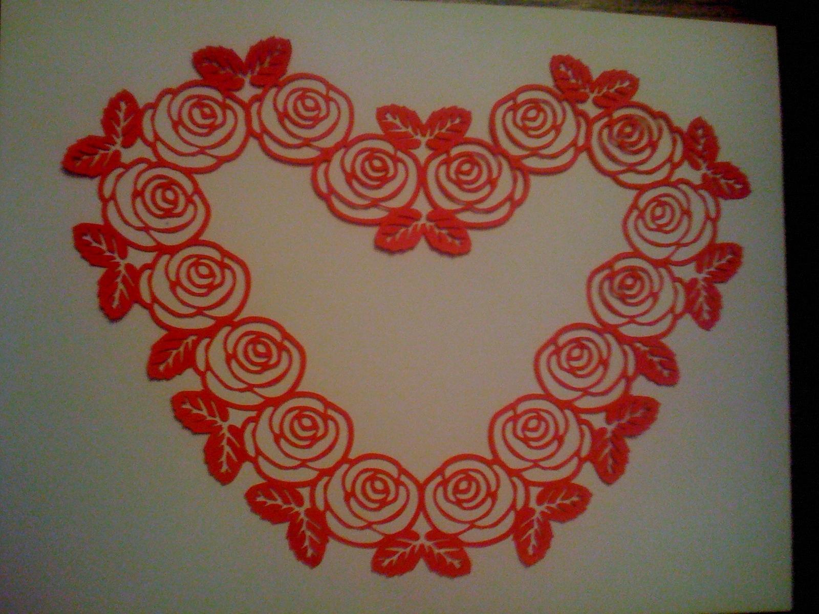 Rose Heart Border