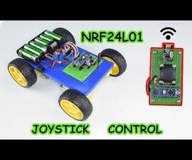 Joystick Control Arduino Car and NRF24L01