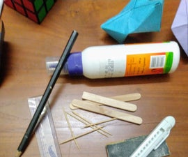 Easy , Mini Wood Sailing  Ship From Popsicle Sticks
