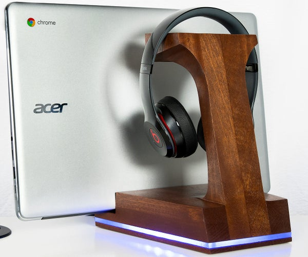3 in 1 Headphone / Laptop Holder With a Lamp