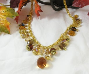 Amber Necklace (it Is a Shade of Orange)