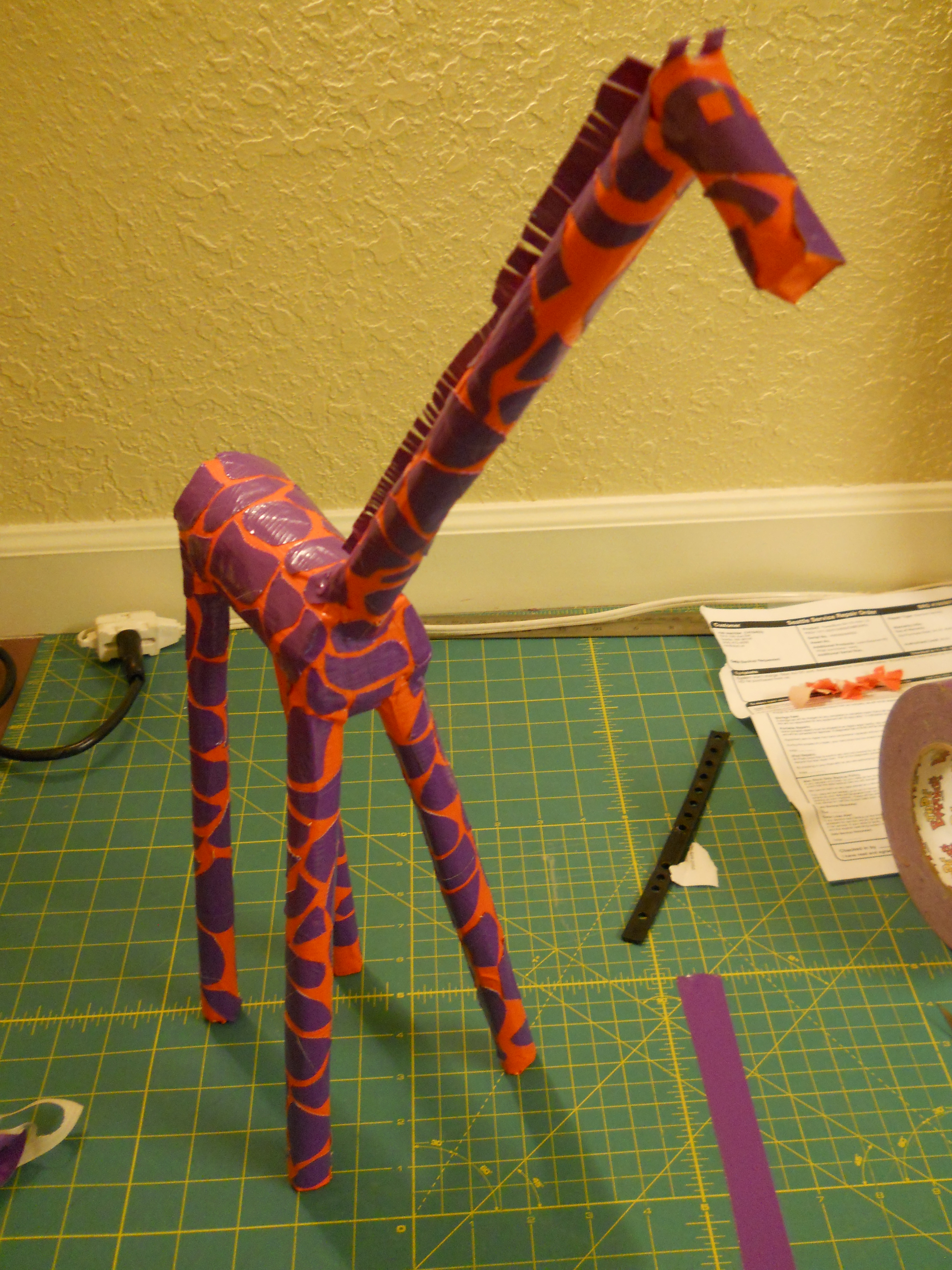 """Duct Tape Giraffe - Tall and Self Supported (22"""")"""