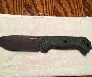 Dyeing a Genuine Micarta Knife Handle