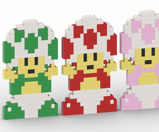 How to Make Toad From Super Mario With Lego Bricks