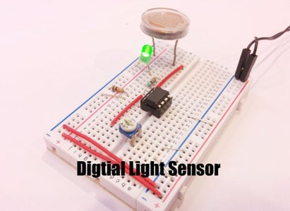 Digital Light Sensor Using LM358