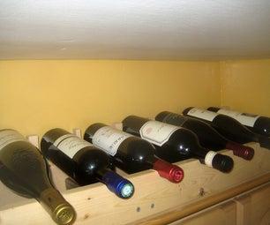 Making an Over-Cupboard Wine Rack