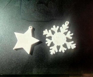 3d Print Snowflake and Star for Christmas Decorations