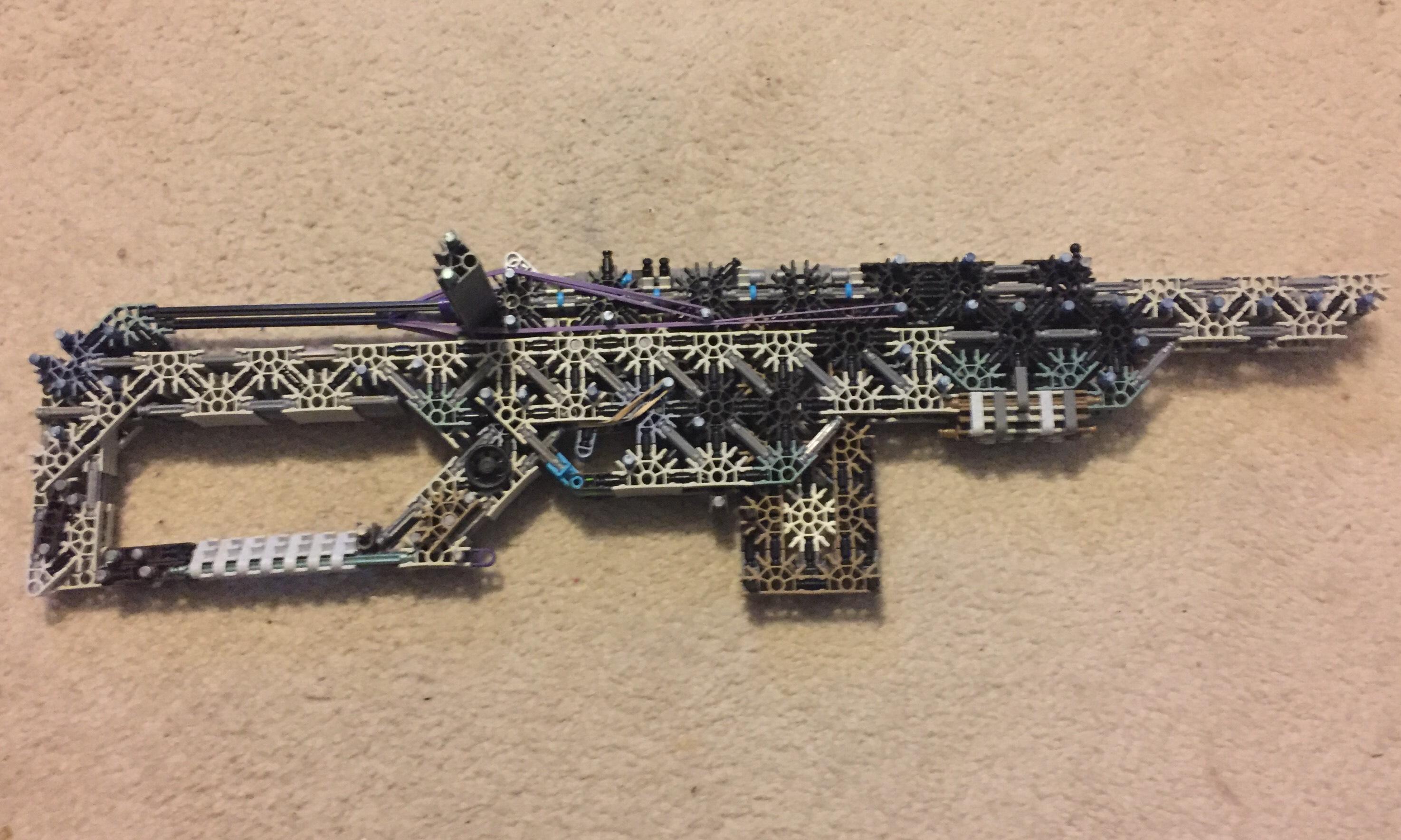 "Knex Custom Bolt-Action Rifle ""Hymm Of The Dead"""