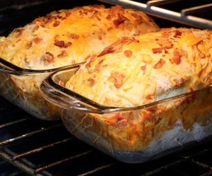 培根切达乳酪面包