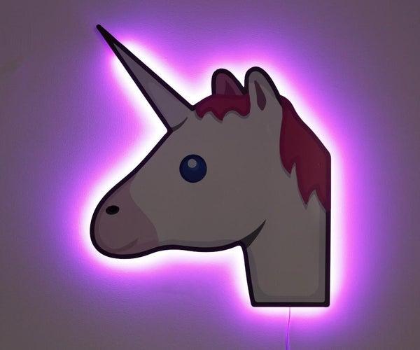 Unicorn Emoji Rainbow Lamp
