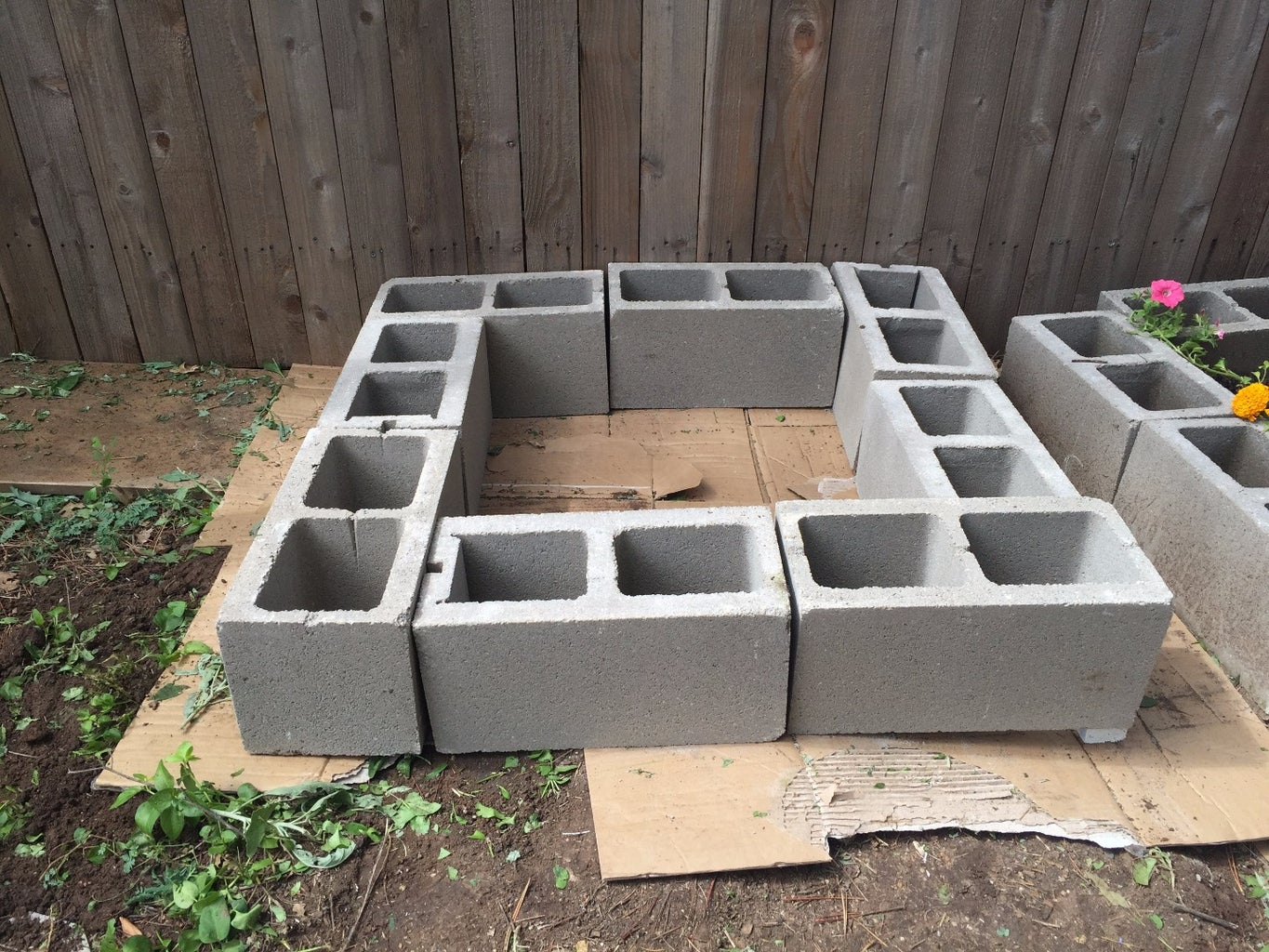 Lay Out Cinder Blocks