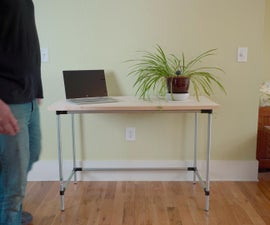 DIY Pipe Desk That ANYONE Can Build   No Power Tools Required