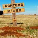 WW2 German Mine Sign