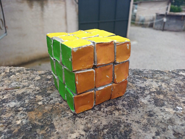 Cardboard 3×3 Rubik's Cube