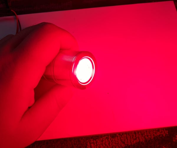 DIY High Powered Red Light Therapy 660nm Flashlight Torch for Pain