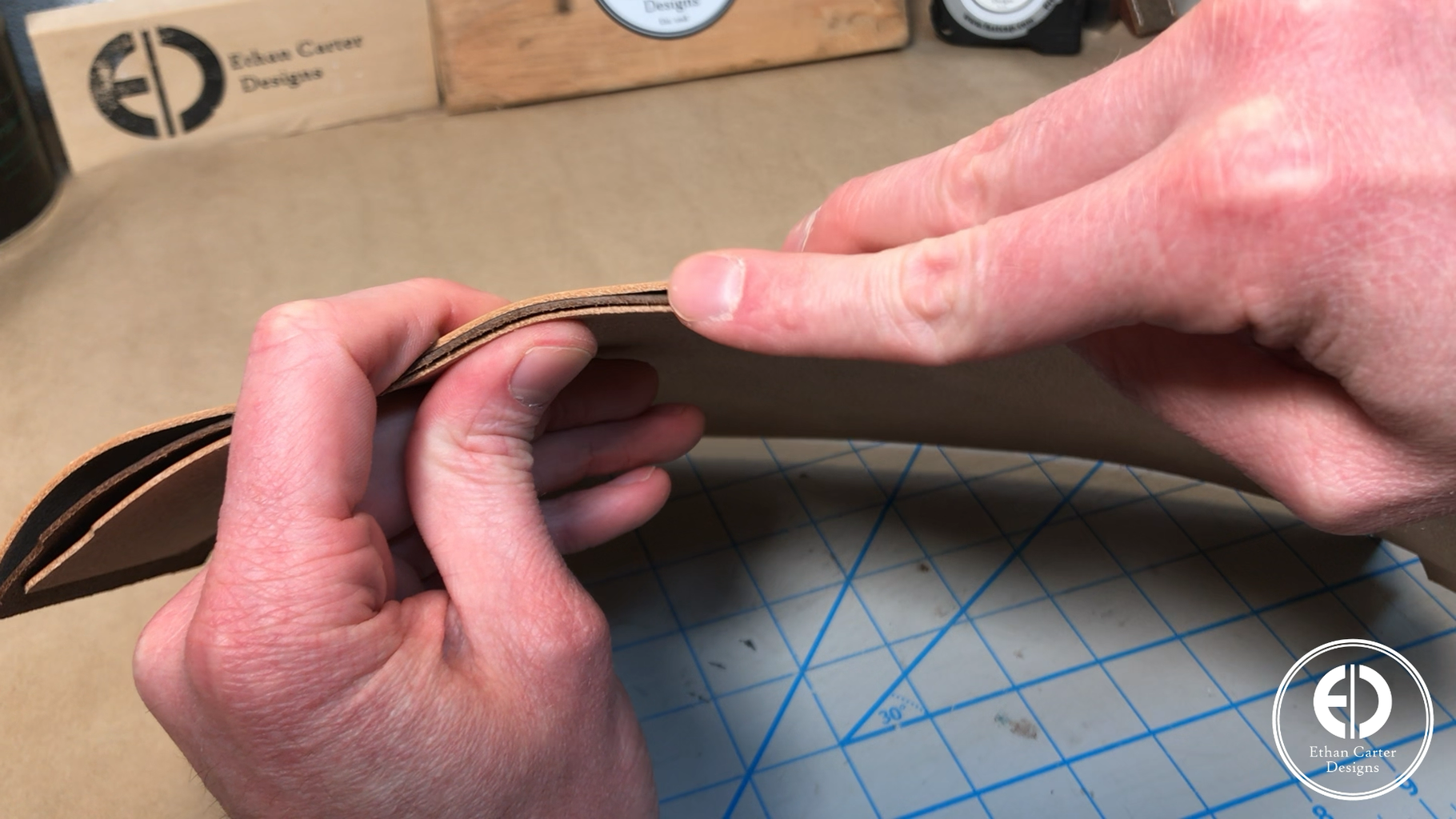 Picking the Leather and Backing Material