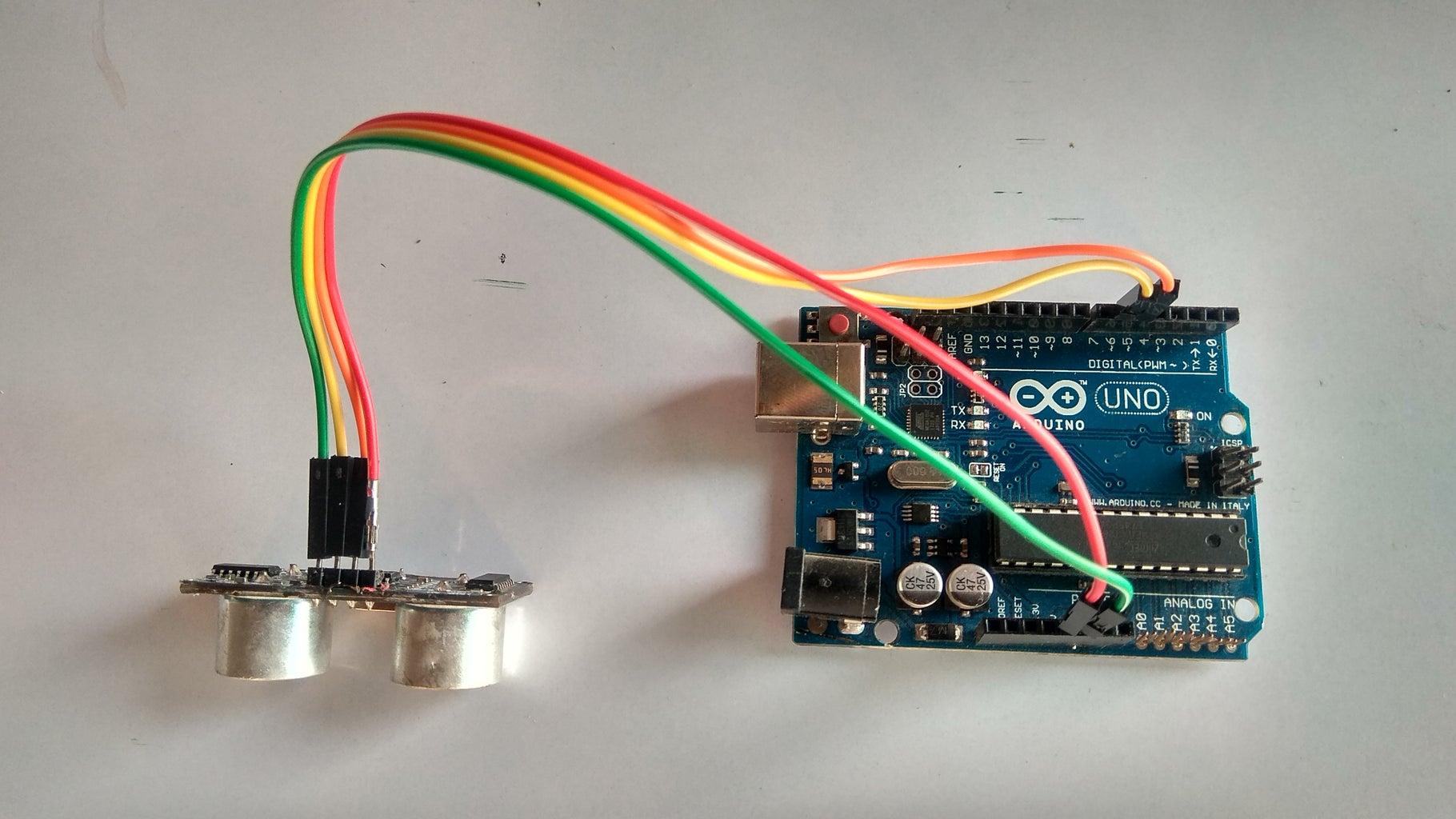 Arduino Connect to Ultrasonic Sensor