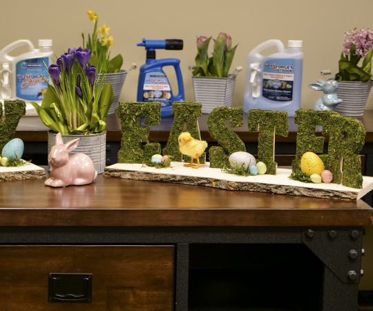 DIY Moss Happy Easter Sign