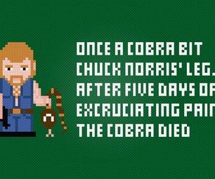 Chuck Norris and a Cobra - Cross Stitch Free PDF Pattern