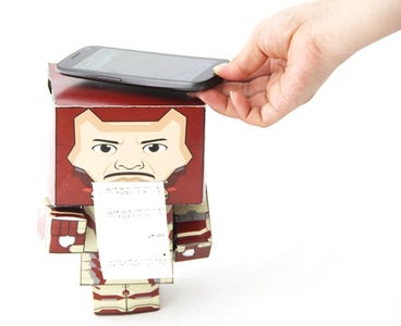 Paper Man: a Machine Created by Arduino and NFC.