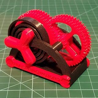 PLA Spring Motor Demonstrator 2
