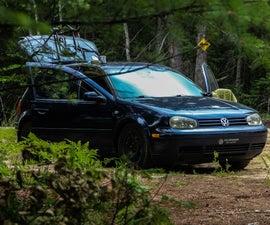 VW Golf Tiny Roadtrip House
