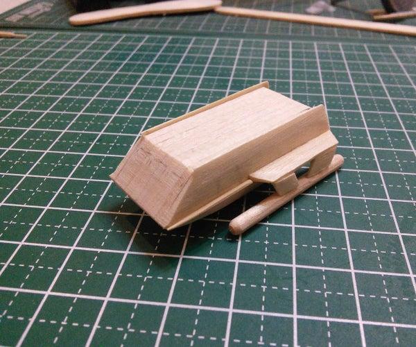 Mini Star Trek Galileo Shuttlecraft Popsicle Stick Model