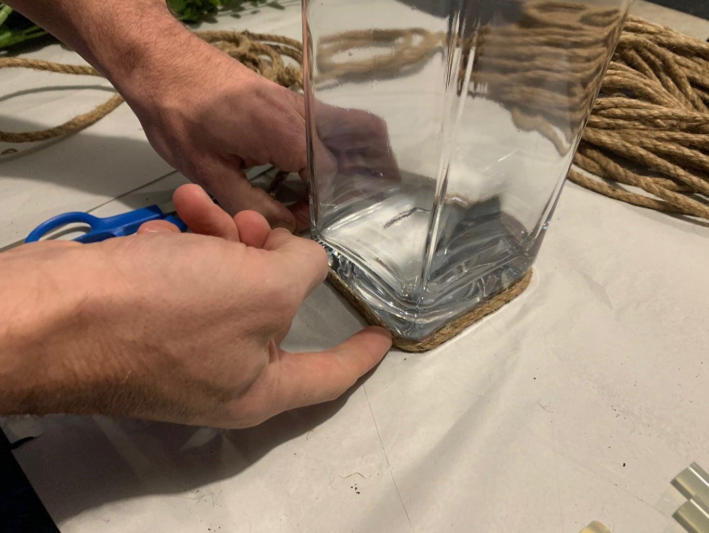 Secure Rope Around Vase