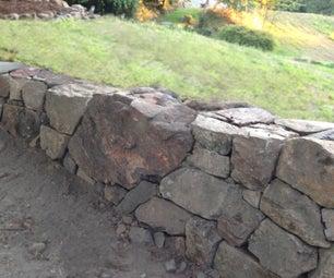 如何建造天然干燥的堆积石自由站立或挡土墙