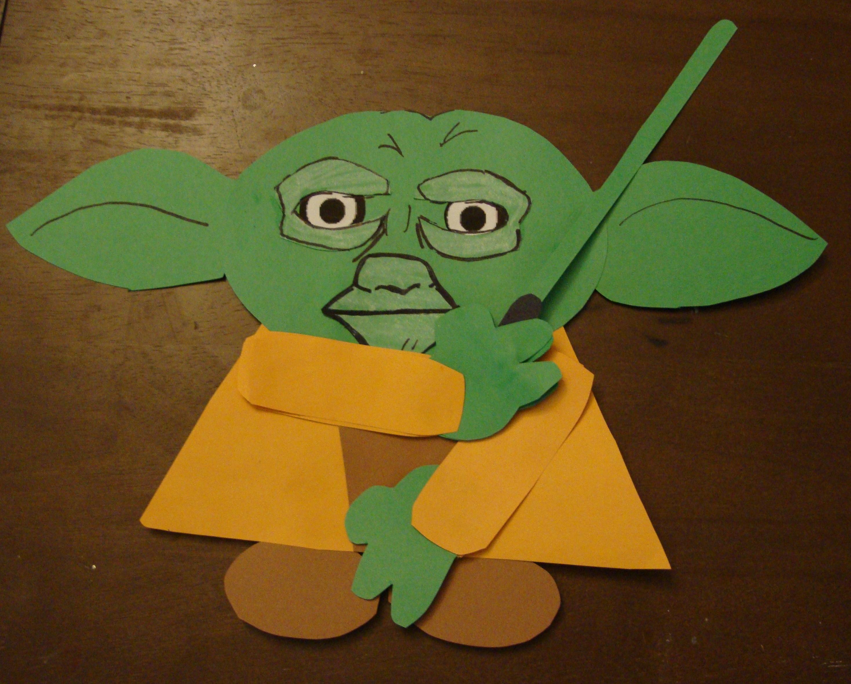 Yoda Papercraft Easy (2-D)
