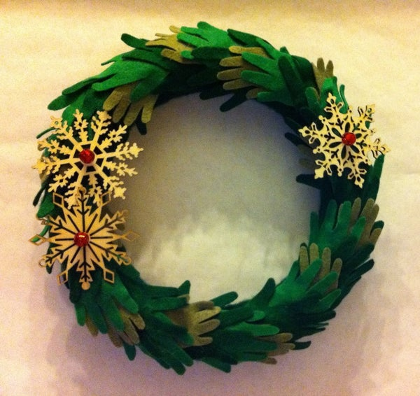 Baby Hands Christmas Wreath