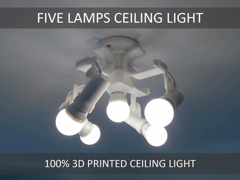 5 Lamp Ceiling Light