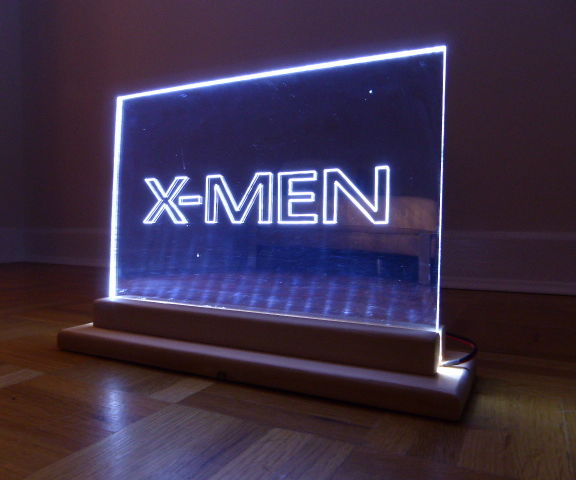 XMEN LED EDGE LIT MIRROR SIGN