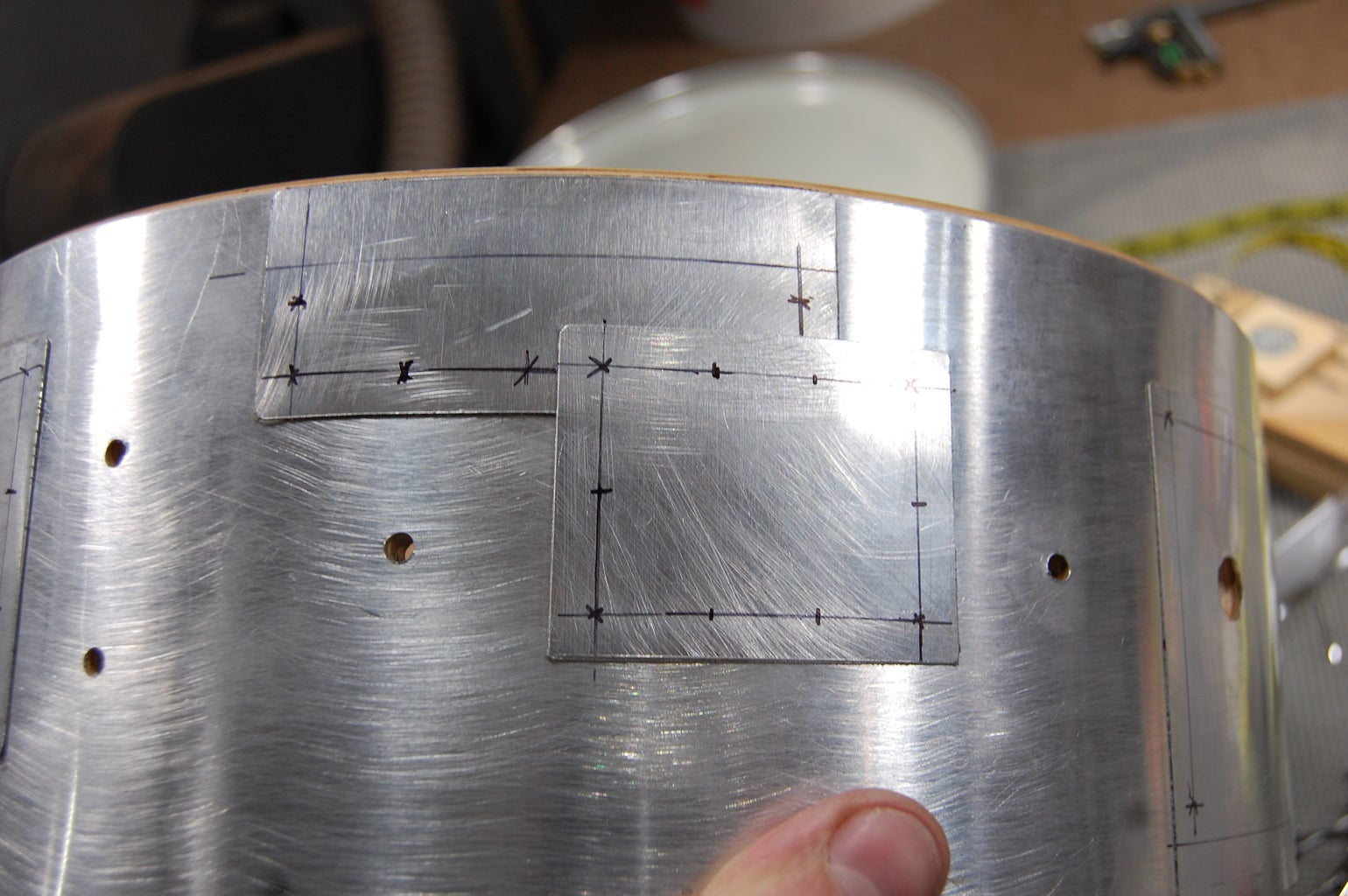 Faux Rivet Layout and Drilling