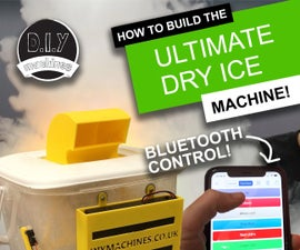 Ultimate Dry Ice Fog Machine - Bluetooth Controlled, Battery Powered and 3D Printed.