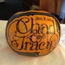 Hand Inked Wedding Pumpkin