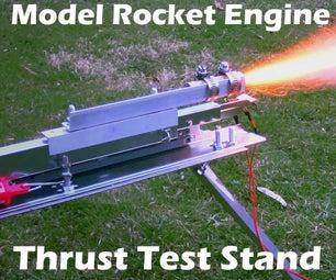 模型火箭发动机推力测量支架